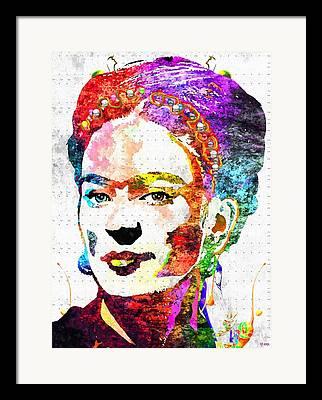 Vintage Painter Mixed Media Framed Prints