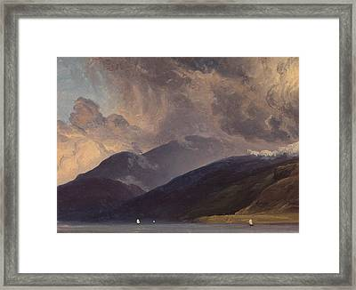 From Balestrand At The Sognefjord Framed Print