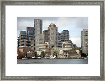 From Boston Harbor Framed Print
