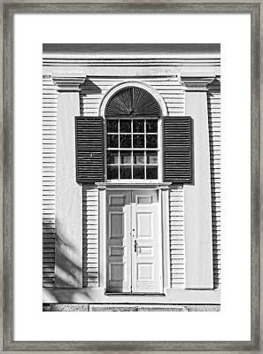 Front Door Old Country Church In Maine Framed Print by Keith Webber Jr