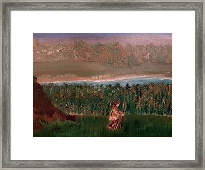 Frontiersman Framed Print by Cindy  Riley