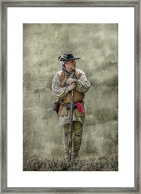 Frontiersman Portrait Framed Print by Randy Steele