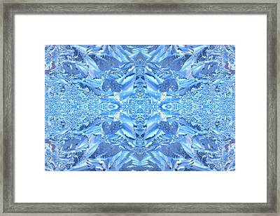 Frost Feathers Framed Print by Marianne Dow