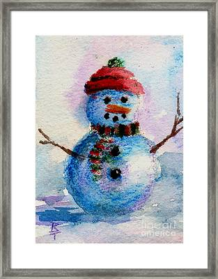 Frosty Aceo Framed Print by Brenda Thour