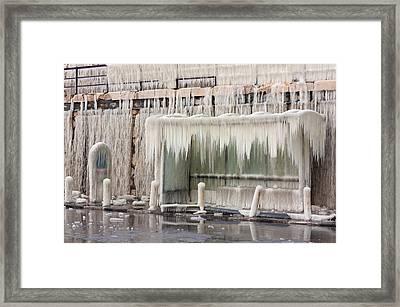 Frozen Bus-stop Framed Print by Boyan Dimitrov
