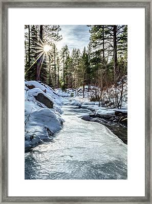 Frozen Creek Framed Print