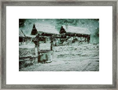 Frozen Farm Framed Print