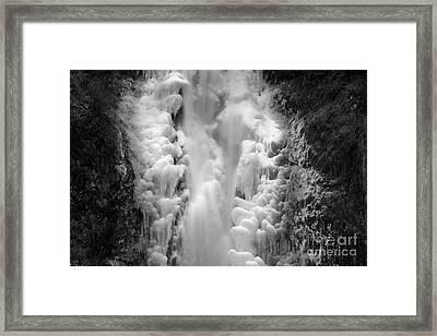 Frozen Multnomah Falls Framed Print