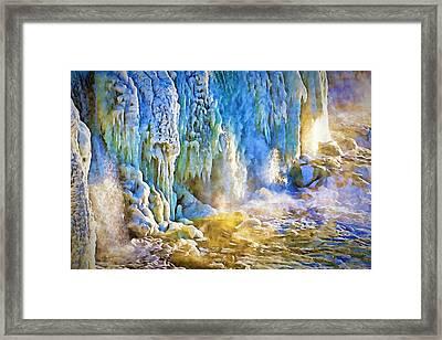 Frozen Waterfall Framed Print
