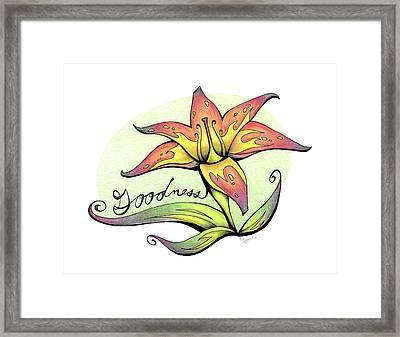 Fruit Of The Spirit Series 2 Goodness Framed Print