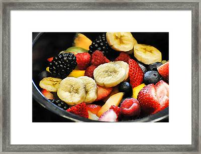 Fruit Salad Framed Print by Diana Angstadt