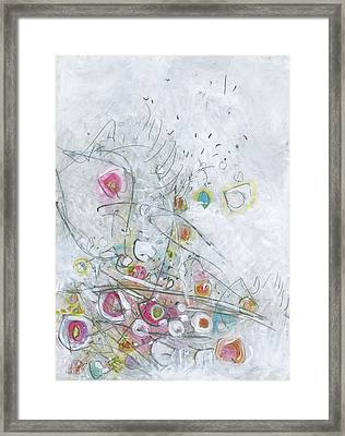 Fruit Salad On The Fourth Of July Picnic Table Framed Print by Christine Alfery