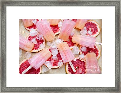 Fruity Pink Popsicles Framed Print by Kati Molin