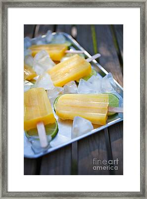 Fruity Popsicles Framed Print by Kati Molin
