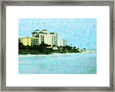 Ft Myers Beachfront Framed Print by Florene Welebny