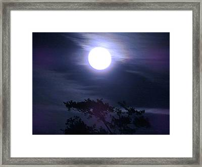 Full Moon Falling Framed Print