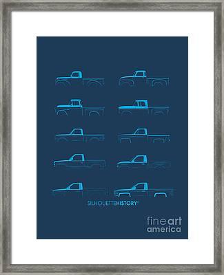 Fullsize Pickup Silhouettehistory Framed Print by Balazs Iker