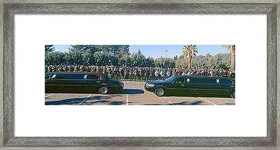 Funeral Service For Police Officer Framed Print