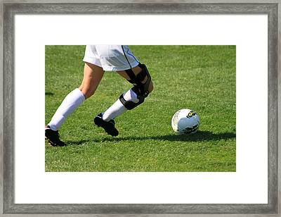 Futbol Framed Print by Laddie Halupa