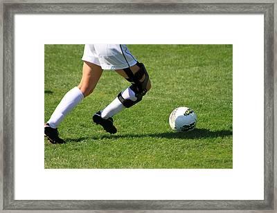 Futbol Framed Print by Laddie Halupa