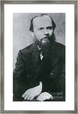 Fyodor Dostoyevsky, Russian Author Framed Print by Photo Researchers