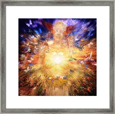 Gaia's Vibe Framed Print by Robby Donaghey