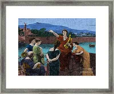 Gaius Valerius Catullus, Ancient Roman Framed Print by Science Source