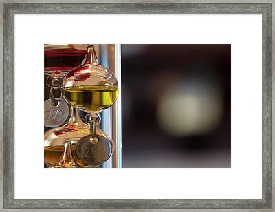 Framed Print featuring the photograph Galileo Thermometer by Jeremy Lavender Photography