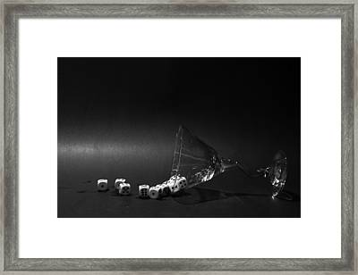 Gamblers Martini Framed Print by Michael Ledray