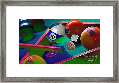 Game Room Billards Framed Print by Marvin Blaine