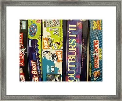 Game Shelf II Framed Print by Anna Villarreal Garbis