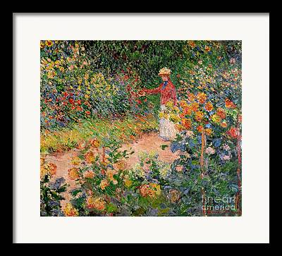 Flowerbed Framed Prints