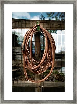 Garden Hose Framed Print by Yo Pedro