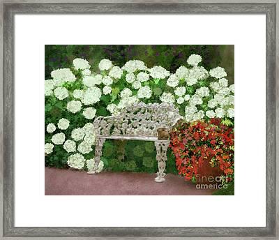 Garden Oasis Framed Print