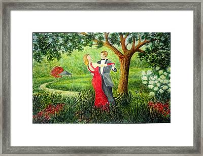 Framed Print featuring the painting Garden Party by Thomas Kuchenbecker