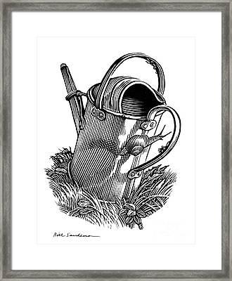 Gardening, Conceptual Artwork Framed Print