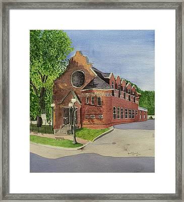 Gardiner Public Library Framed Print by Bonnie Young