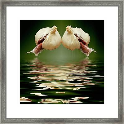 Framed Print featuring the photograph Garlic Cloves Of Garlic by David French