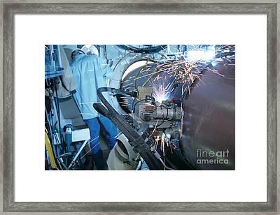 Gas Pipeline Construction Framed Print