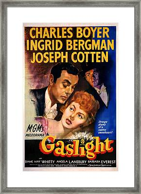Gaslight, Charles Boyer, Ingrid Framed Print by Everett