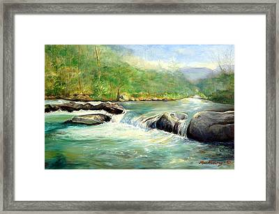 Gatlinburg River Framed Print by Max Mckenzie