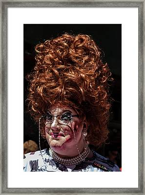 Gay Pride 2017 Nyc Drag Queen Framed Print by Robert Ullmann