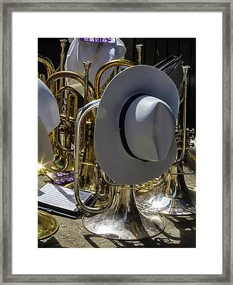 Gay Pride Parade Nyc 2016 Marching Band Instruments Framed Print by Robert Ullmann