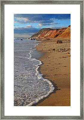 Gayhead Cliffs Marthas Vineyard Framed Print