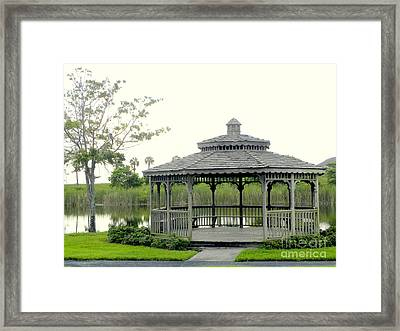 Framed Print featuring the photograph Gazebo by Terri Mills
