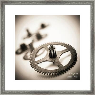 Gear Wheels. Framed Print