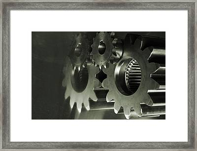 Gears And Cogwheels Framed Print