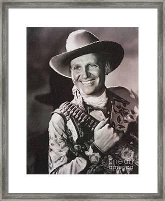 Gene Autry, Western Actor And Singer Framed Print