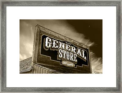 General Store Sign Framed Print by Donald  Erickson
