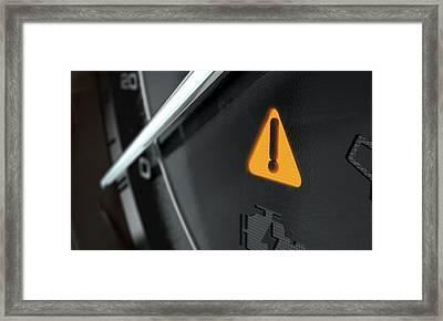 General Warning Dashboard Light Framed Print
